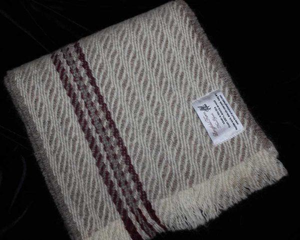 Light grey with burgundy stripe
